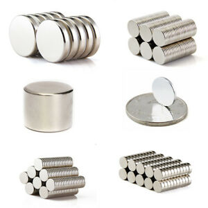 Tiny Disc Rare Earth Neodymium N50 Permanent Round Strong Mini Magnets Lots Size