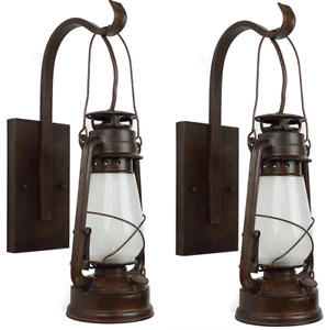 2 Lantern Wall Sconce Large Coal Miner Style Lamp Muskoka Lifestyle Products Usa