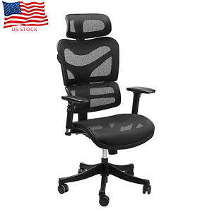 Us Ergonomic Back Lumbar Support High Back Mesh Desk Executive Home Office Chair