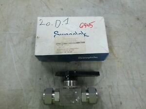Swagelok S s Alternative Fuel Service Ball Valve Ss afss16 1 Tube nib