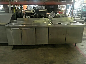 Stainless Steel Food Prep Counter With Refrigerated Cabinet