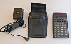 Vintage Hp 45 Scientific Calculator With Case And Power Supply Works