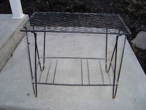 Plant Tv Stand Mid Century Hairpin Legs 230 By 23 By 12