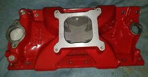 Edelbrock Victor Jr Small Block Chevy Manifold Ported powder Coated Turbo