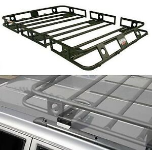 Smittybilt Bolt Together Roof Rack W Bracket For 04 06 Jeep Tj Unlimited
