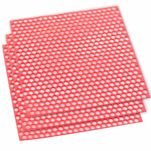 10 Sheets box Dental Lab Supplies Round Hole Wax Patterns Co cr Casting Red