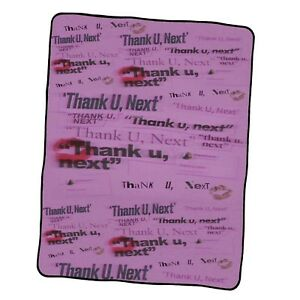Ariana Grande Thank You Next Book Custom Blanket