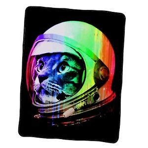 Astronaut Space Cat Custom Blanket