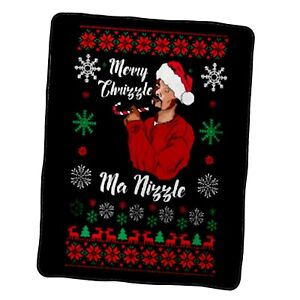 Merry Chrizzle Snoop Dogg Funny Ugly Custom Blanket