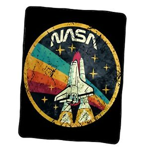 Nasa Usa Space Agency Vintage Colors V03 Custom Blanket