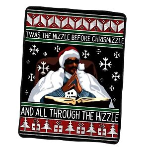 Snoop Dogg Twas The Nizzle Before Christmizzle And All Through Custom Blanket