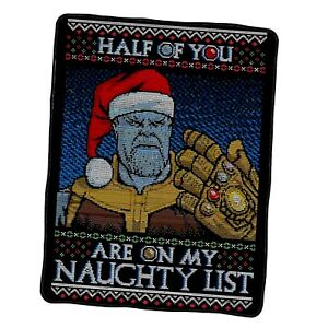 Thanos Half Of You Are On My Naughty List Custom Blanket