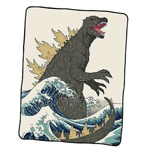 The Great Godzilla Off Kanagawa Custom Blanket