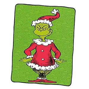 The Grinch Pattern 2 Custom Blanket