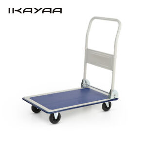 330lbs Foldable Platform Hand Truck Cart Dolly Luggage Collapsible Trolley R7a5