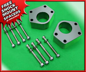 Front 2 Billet Lift Kit Silver Spacers For 84 95 Toyota Ifs 4runner 2wd 4wd