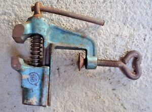 Vintage Antique Table Top Bench Vise W Germany 1 5 8 Jaw Opening