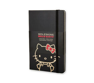 Moleskine Hello Kitty Large Black A5 Ruled Notebook Hardcover Limited Edition
