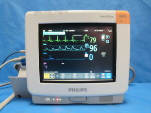 Philips Mp 5 Multiparameter Color Patient Monitor With Patient Cables Mp5