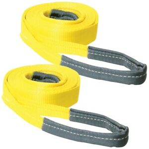 2 X 20 Tow Straps W Reinforced Eyes 2 Pack 15 000 Pounds 2 Pack