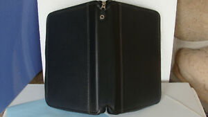 Compact 1 Rings Full Grain Leather Franklin Covey Planner Binder Zip Usa Nice