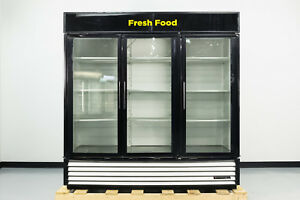 Used True Gdm 72 3 Swing Glass Door Merchandiser Refrigerator