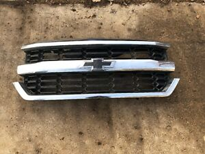 Oem 2016 2017 2018 Chevrolet Silverado Chrome Front Grille Grill 23380362