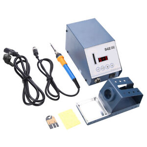 90w 110v Power Electric Soldering Station Smd Rework Welding Iron Holder Set