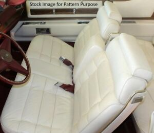 1975 1976 Cadillac El Dorado Bench With Armrest Front Seat Cover