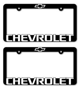 2 Chevrolet License Plate Frame Z71 Tahoe Camaro Colorado Suburban Traverse