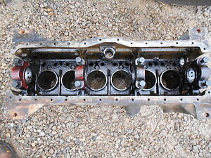 Oliver 770 Diesel Tractor Engine Block has Patch Selling As Is