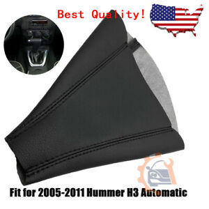 For 2005 2011 Hummer H3 Automatic Leather Shifter Boot Shift Cover Black