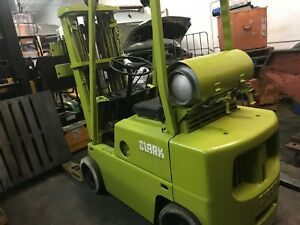 Clark C500 45 5000lbs Capacity Forklift Lift Truck Lpg Propane 3 Stage