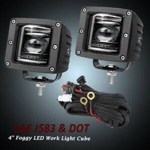 3inch Led Fog Light Pods Spot Combo Off Road Truck Jeep 2inch Mounting Bracket