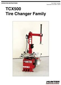 Hunter Tcx500 Tcx505 Tcx515 Tcx535 Tire Changer Operation Instruction Manual Cd