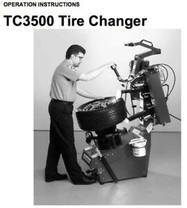 Hunter Tc3500 Tire Changer Operation Instruction Manual Tc3250 On Cdrom