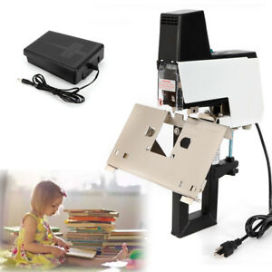 Auto Rapid Electric Stapler Binder 106 Electric Flat And Saddle Stapler W Pedal