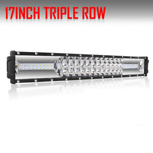 17inch 1008w Osram Led Light Bar Pure White Offroad 16 18 19inch Wiring Kit