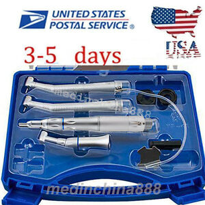 Dental Slow Speed Handpiece 2h 2x High Speed Push Button Cartridge Fit Nsk Usa