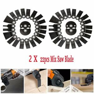 2x 22 Pc Oscillating Multitool Quick Release Saw Blade Fit Fein Multimaster Ma