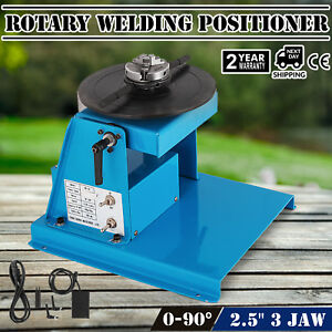 Rotary Welding Positioner Turntable Table 2 5 3 Jaw Lathe Chuck 2 20 Rpm 10kg