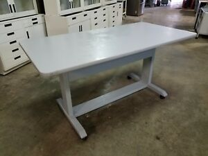 Commercial Heavy Duty Mobile Training Table 72 l X 36 w X 36 h Laminate Top