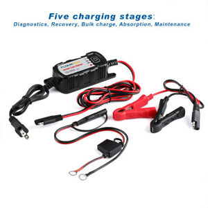 6v 12v 2a Lead Acid Battery Maintenance Charger Waterproof For Car Motorcycle