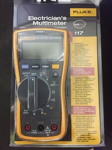 Fluke 117 Electricians True Rms Multimeter With Leads Manual
