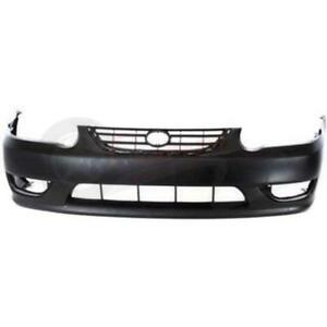 To1000217 New Bumper Cover Front For Toyota Corolla Sedan 2001 2002