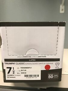 Medline Triumph Classic Surgical Gloves 7 5