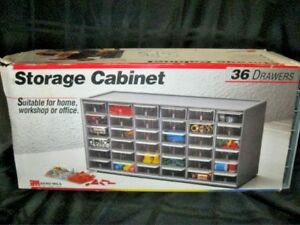 36 Drawer Plastic Storage Cabinet Akro Mils Myers Industry Model 10 136