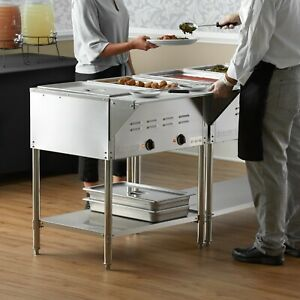 29 2 pan Restaurant Electric Steam Table Buffet Food Warmer 120 Volt