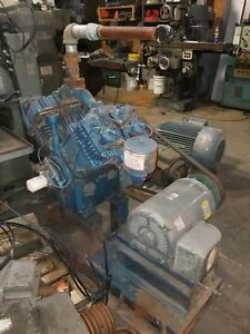Quincy 25 Hp Air Compressor Unit Skid Package Pressure Lubricated Piston Pump