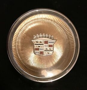 Cadillac Chrome And Golden Horn Button Vintage 1960s